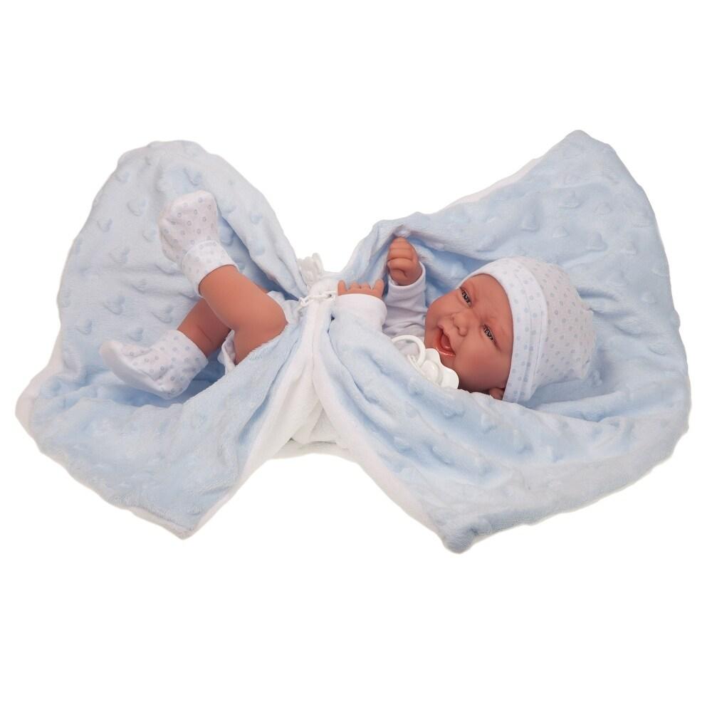 Antonio Juan Dolls 17 Inch Newborn Carlo Manta Doll, Boy (Kids)