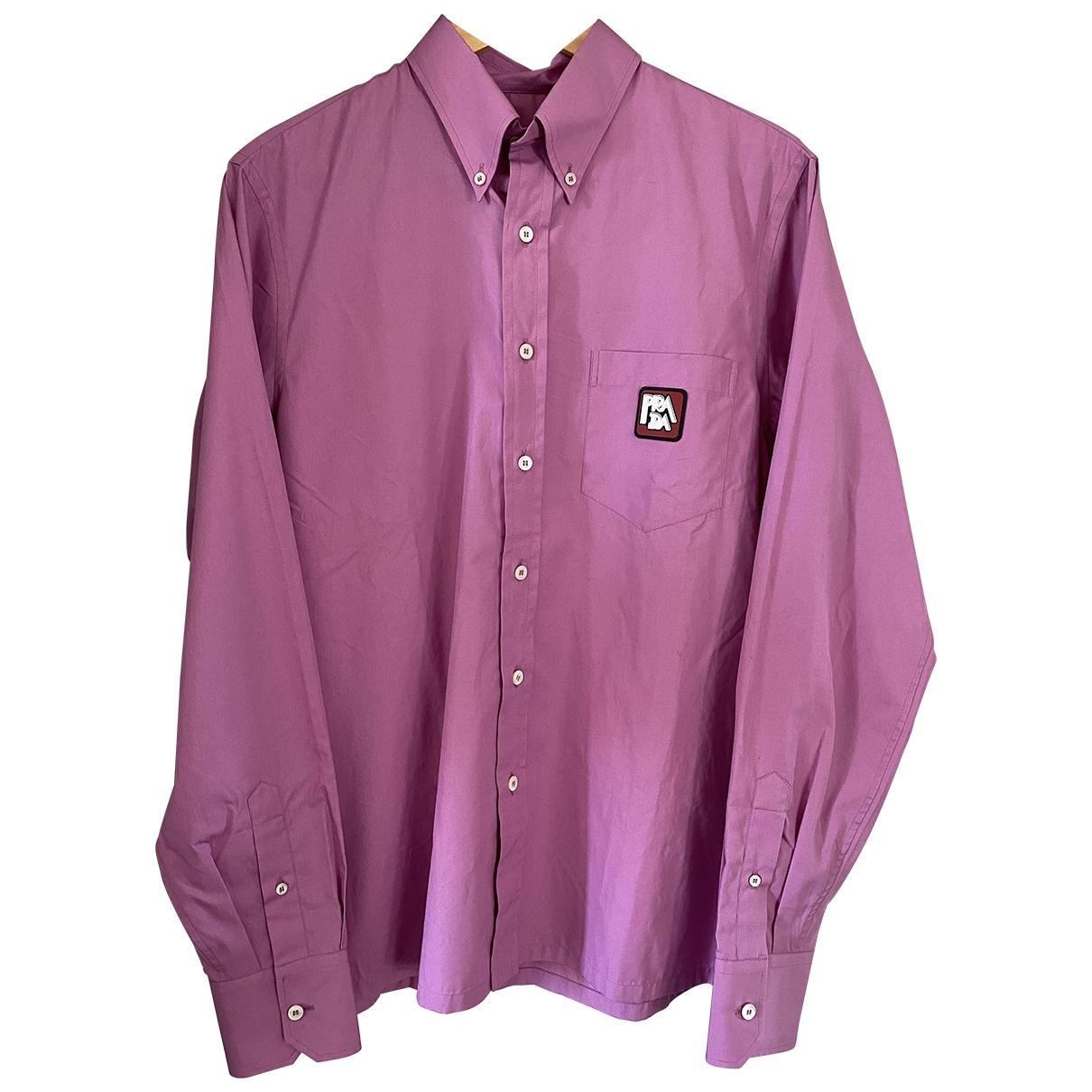 Prada - Chemises   pour homme en coton - rose