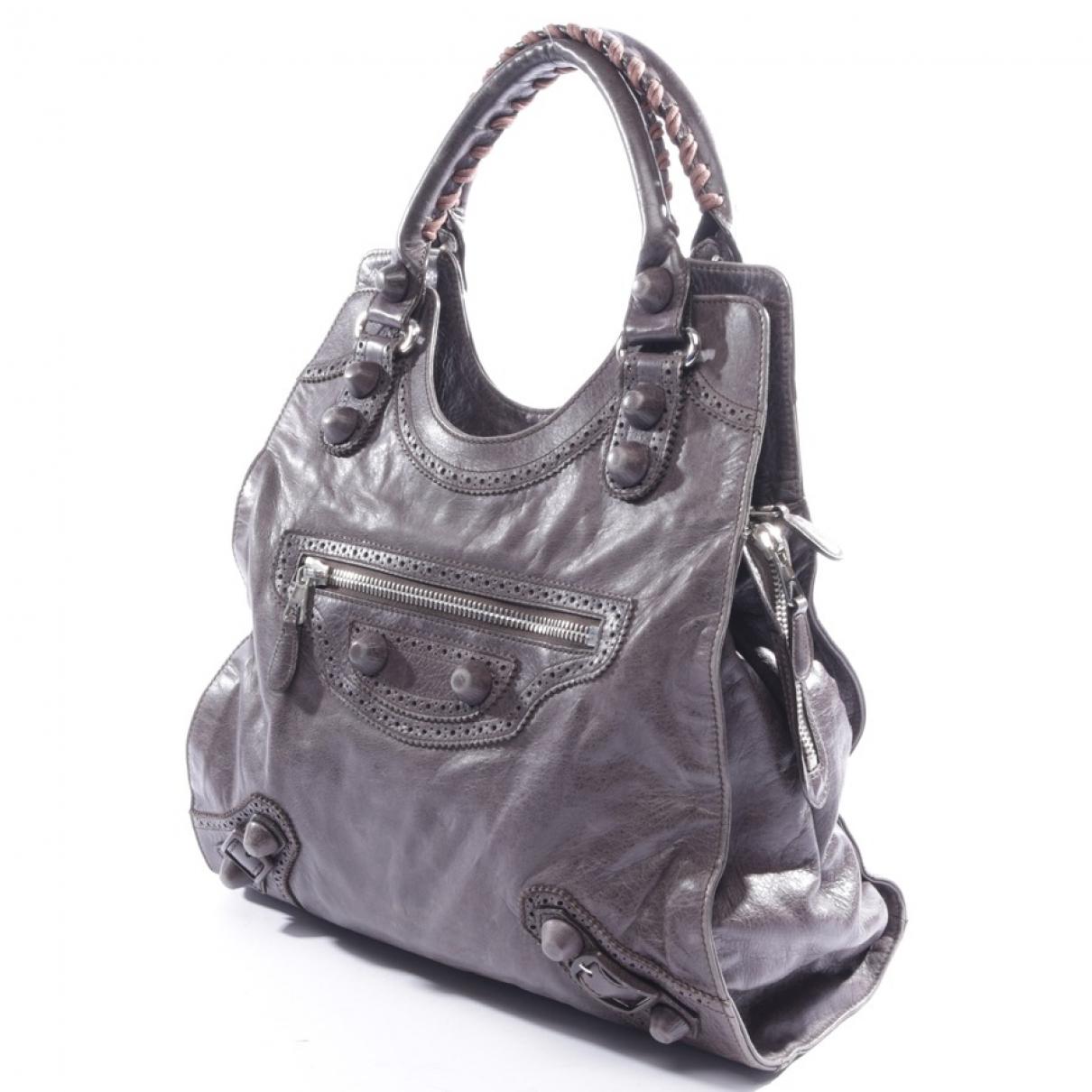 Balenciaga \N Brown Leather handbag for Women \N