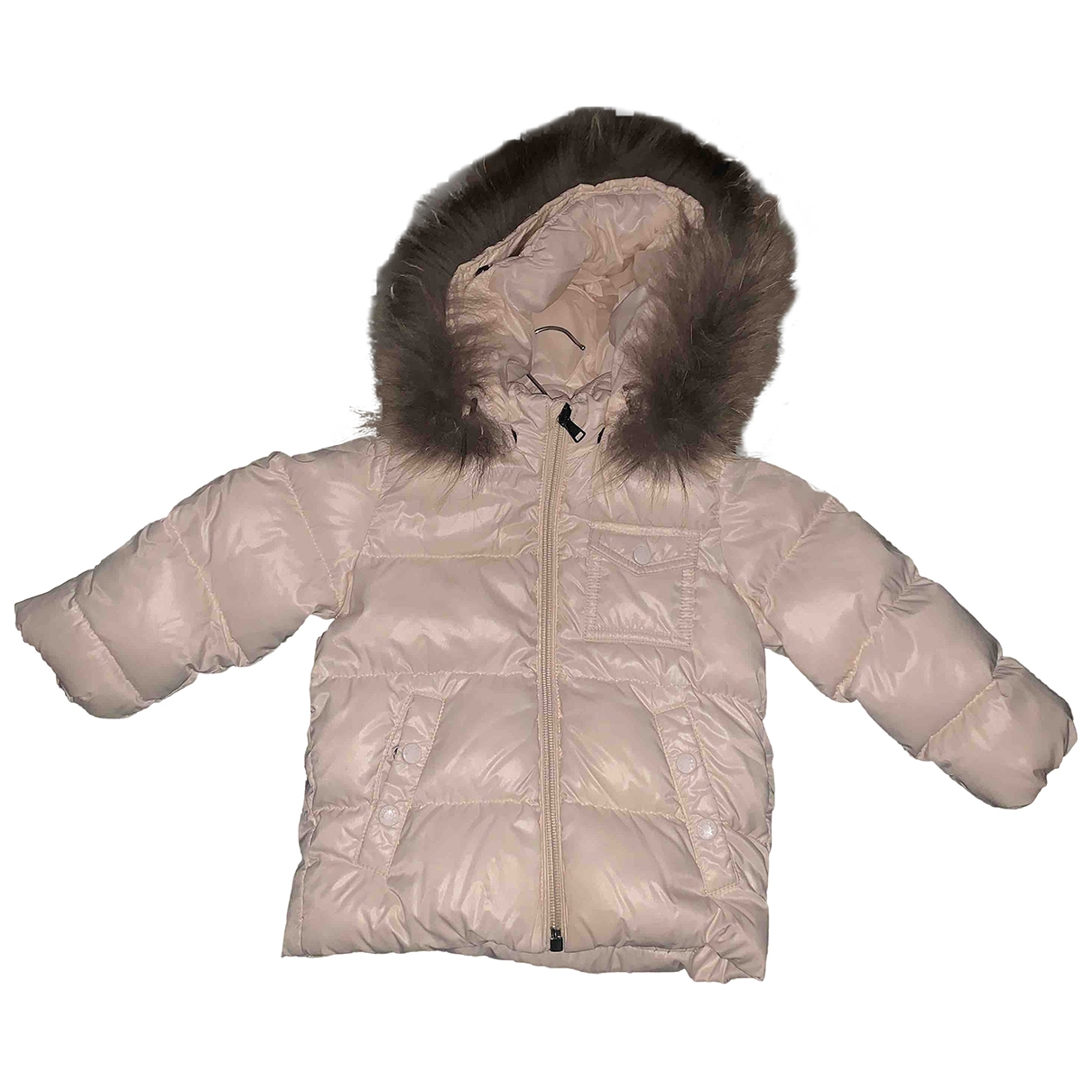 Moncler Fur Hood Pink jacket & coat for Kids 2 years - up to 86cm FR