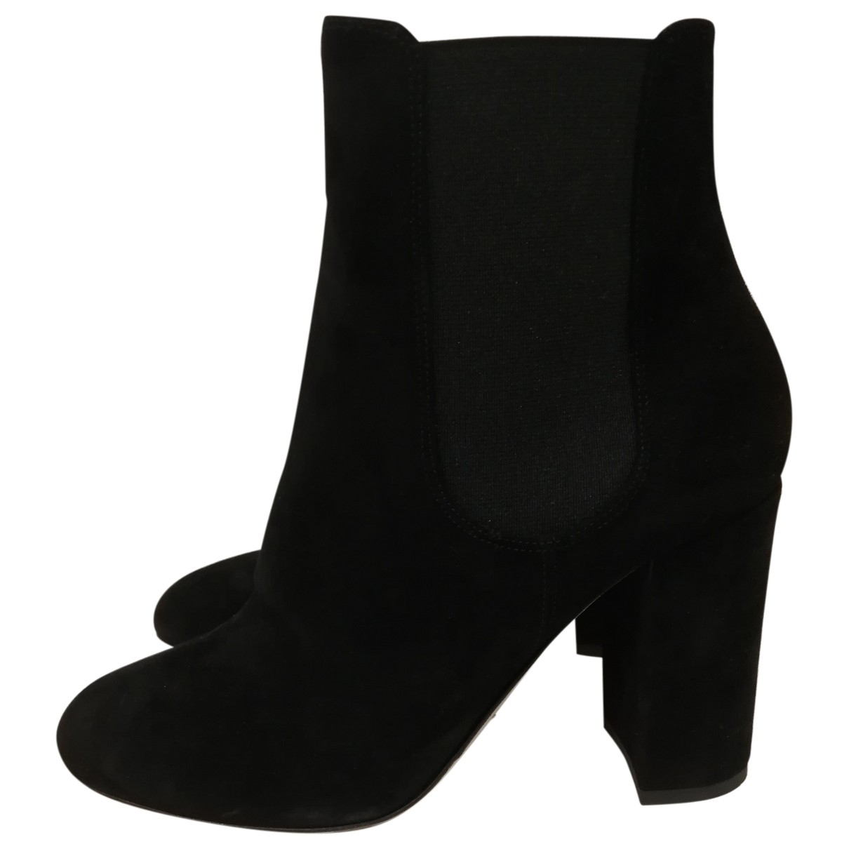 Dolce & Gabbana \N Black Suede Ankle boots for Women 37 EU