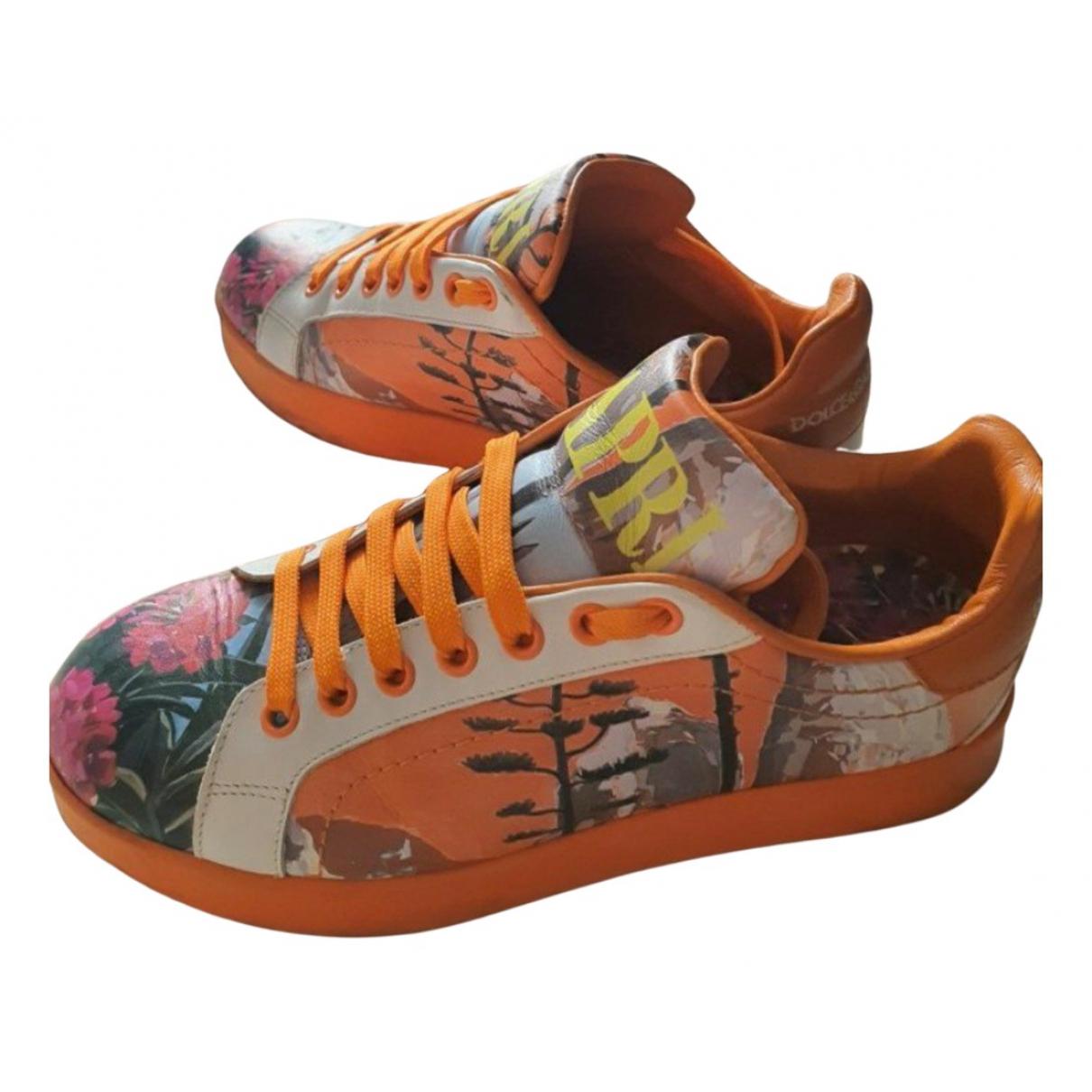 Dolce & Gabbana Portofino Sneakers in  Bunt Leder