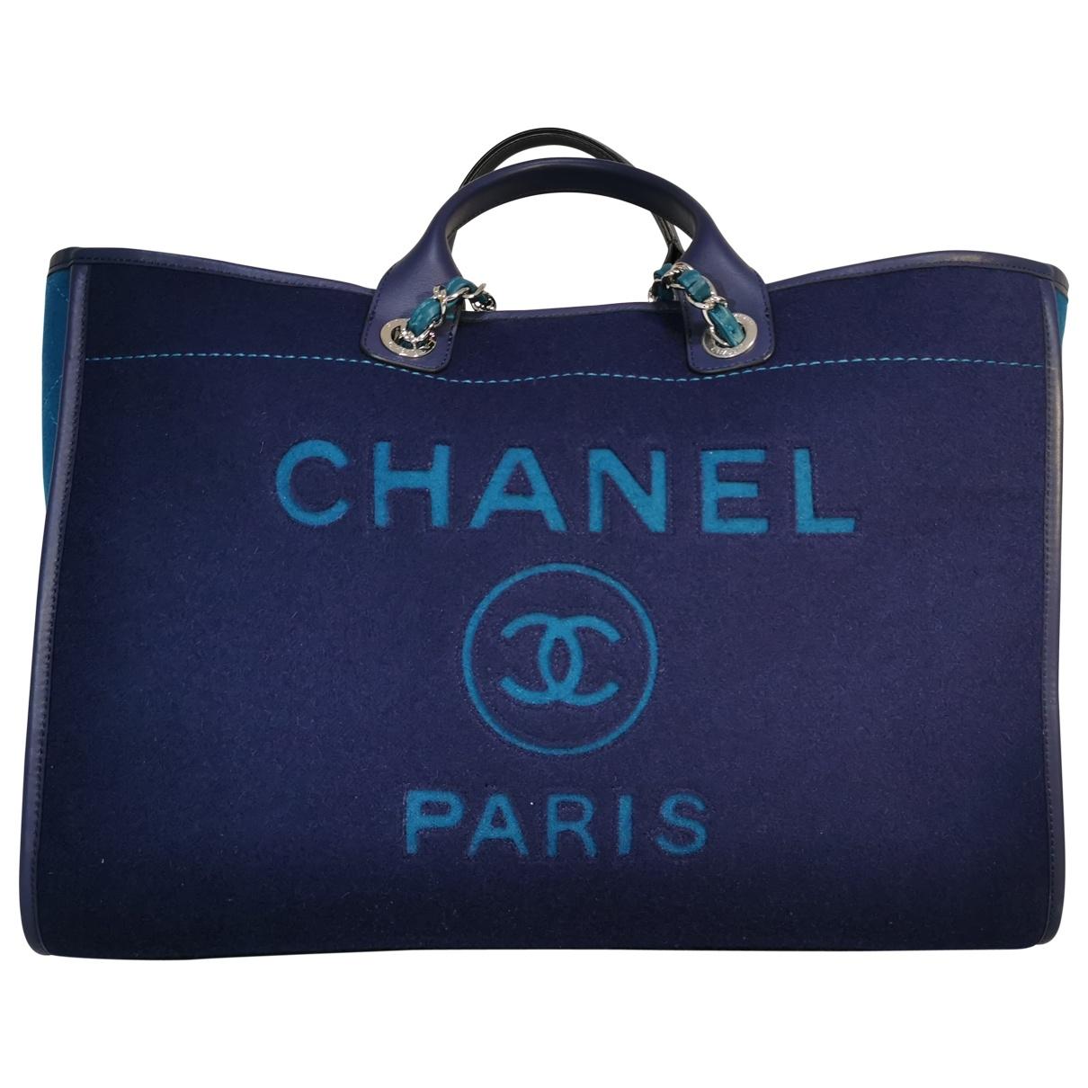 Chanel Deauville Blue Cloth handbag for Women \N