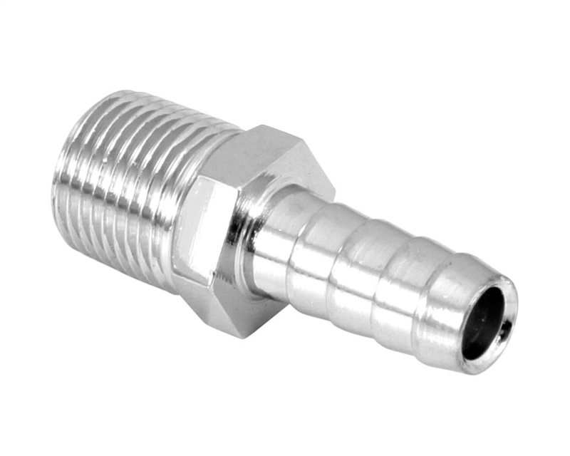 Spectre 5945 Fuel Fitting 3/8in. Hose Barb NPT Threads - Chrome