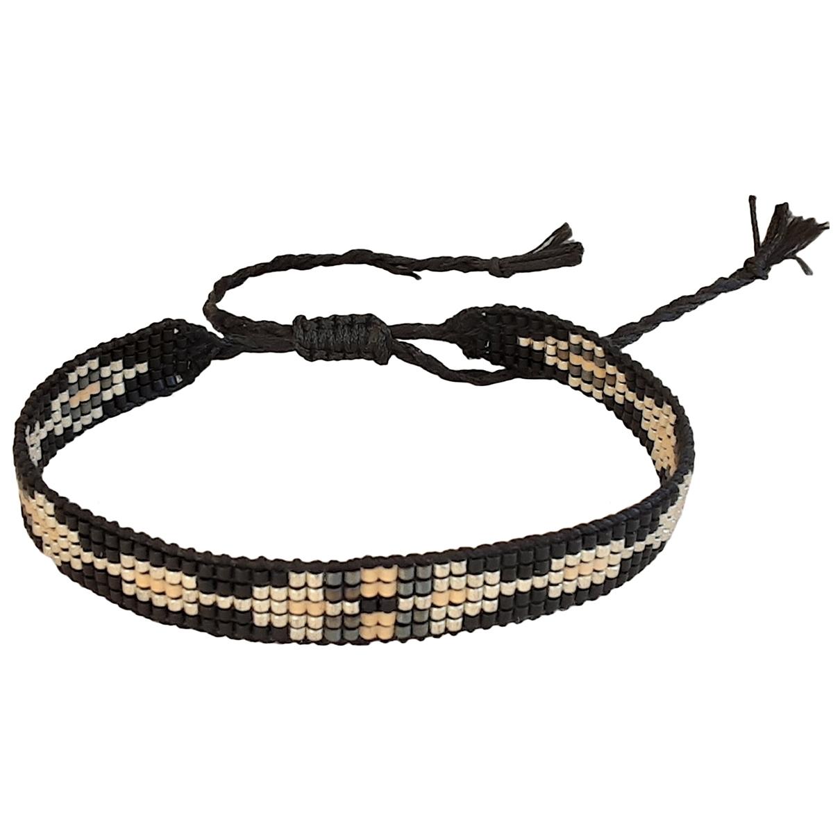 - Bracelet Motifs Ethniques pour femme en perle - noir