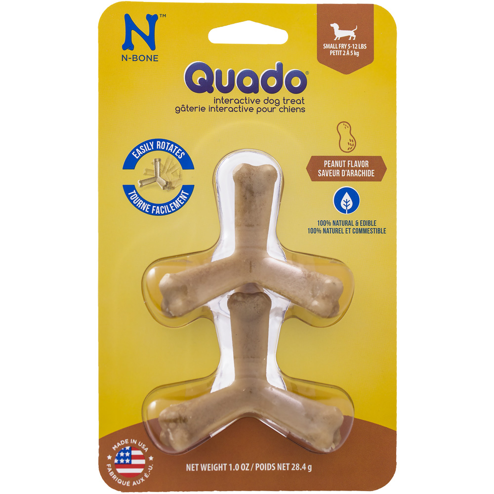 Quado Interactive Dog Treat Peanut Flavor - Small Fry