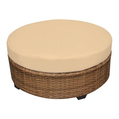 TKC025b-CTRND-SESAME Laguna Round Coffee Table with 2 Covers: Wheat and