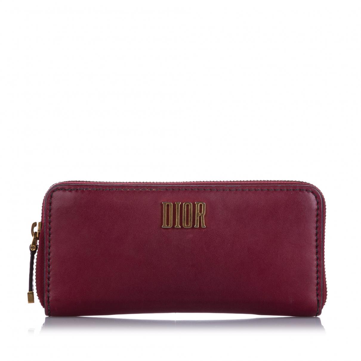 Dior \N Portemonnaie in  Rot Leder