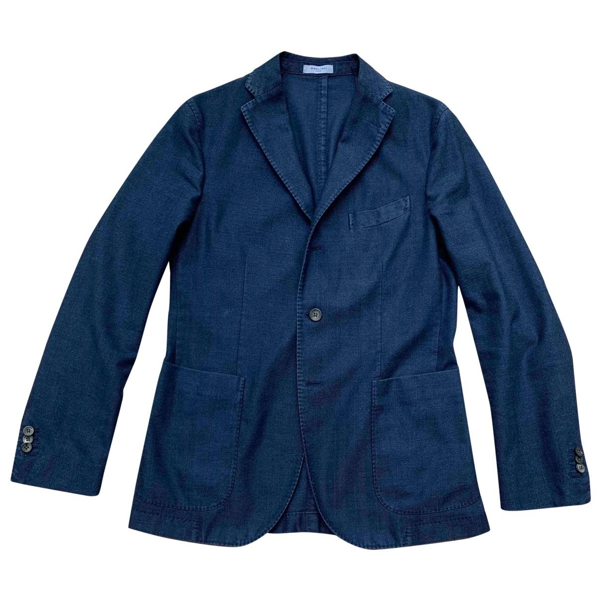Boglioli - Vestes.Blousons   pour homme en coton - bleu