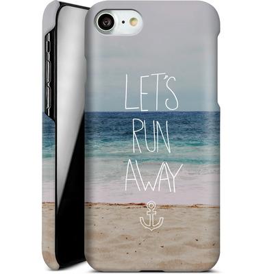 Apple iPhone 7 Smartphone Huelle - Lets Run Away - Sandy Beach von Leah Flores