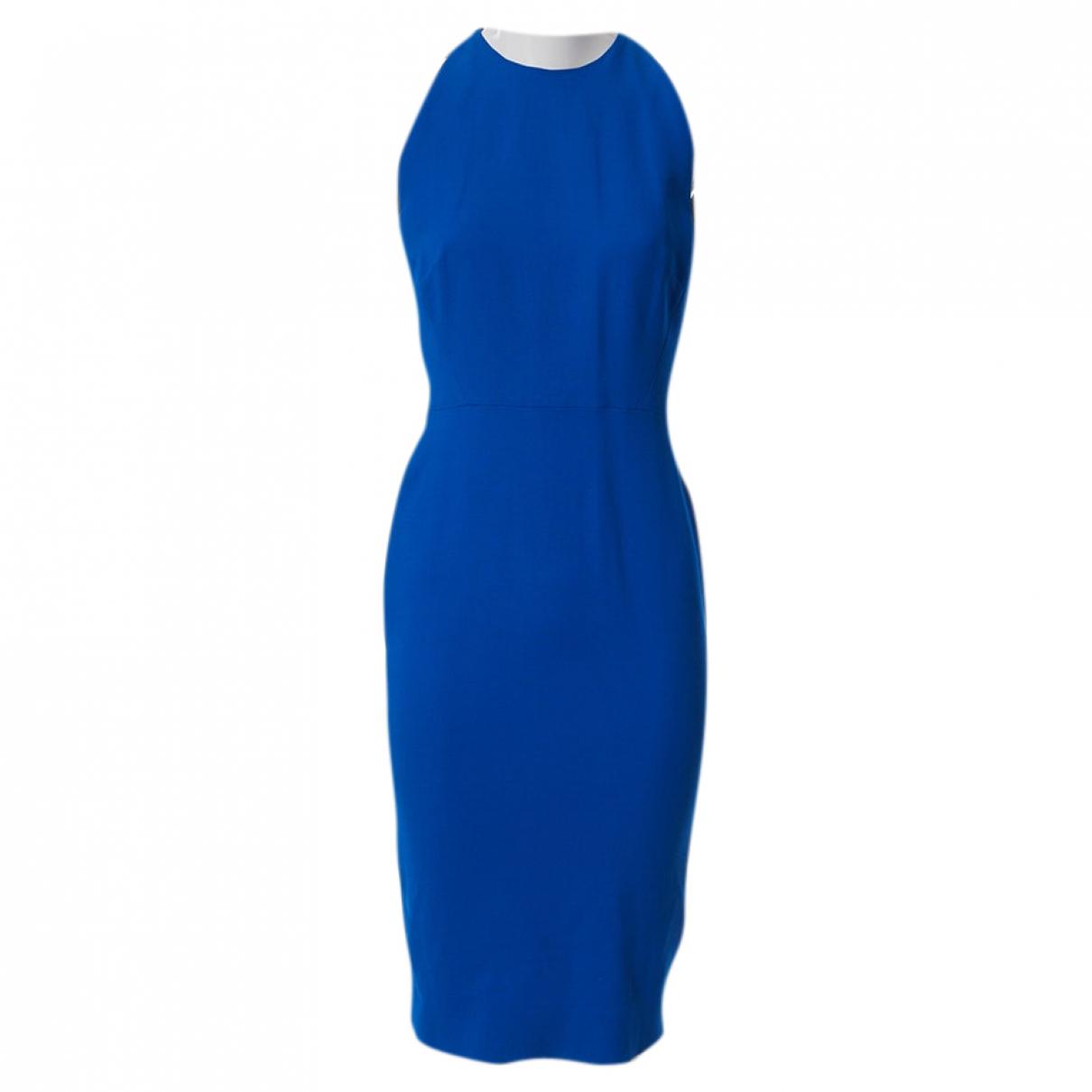 Victoria Beckham N Blue Silk dress for Women 10 UK