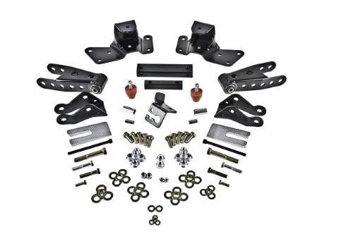 Belltech 6909 4in Rear Drop Shackle & Hanger Kit Chevrolet Silverado | GMC Sierra 3/4 & 1 Ton Crew Cab 1997-2000