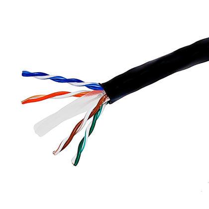 Cat6 23AWG UTP câble en vrac solide, classé CM, 500pi - PrimeCables® - noir