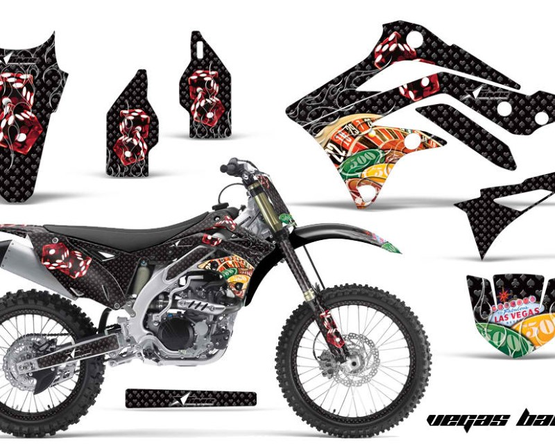 AMR Racing Graphics MX-NP-KAW-KX450-12-15-VB G Kit Dedcal Sticker Wrap + # Plates For Kawasaki KXF450 2012-2015 VEGAS GREEN