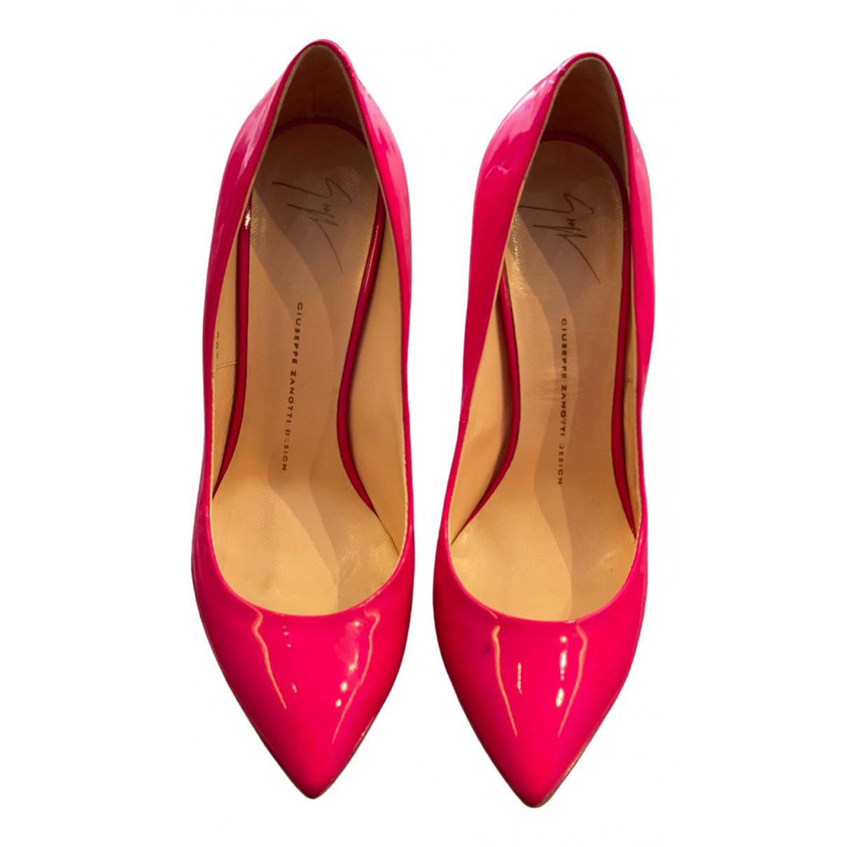 Giuseppe Zanotti - Escarpins   pour femme en cuir verni - rose