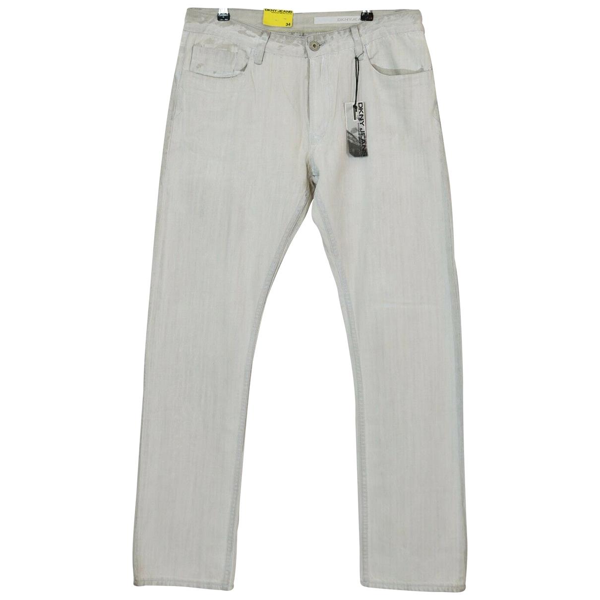 Dkny \N White Cotton Jeans for Men 34 US