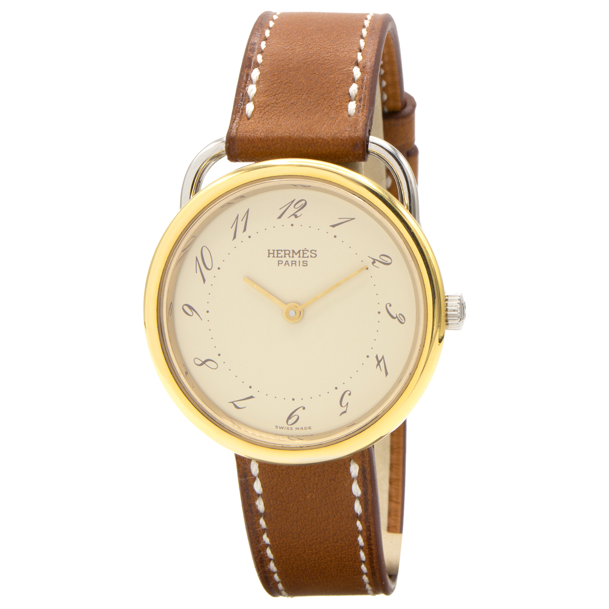 Hermes Arceau Uhr in  Gold Vergoldet