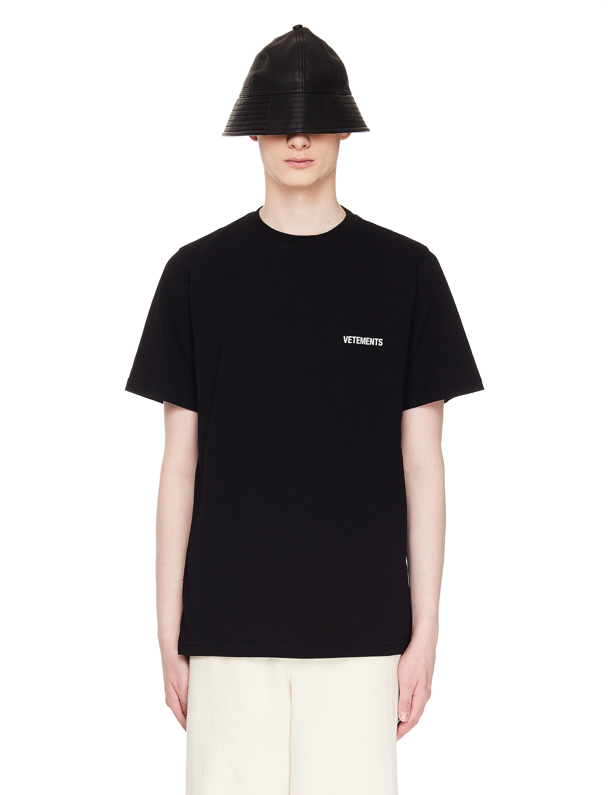 Vetements Black Logo Cotton T-Shirt