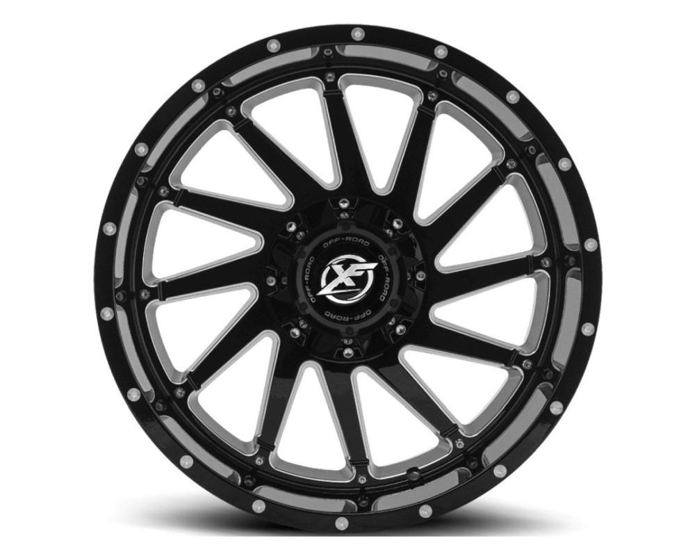 XF Off-Road XF-216 Wheel 20x9 6x135 6x139.7 0mm Gloss Black Milled
