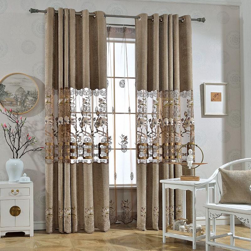 Elegant Ventilate Breathable Custom Living Room Sheer Curtains No Pilling No Fading No off-lining