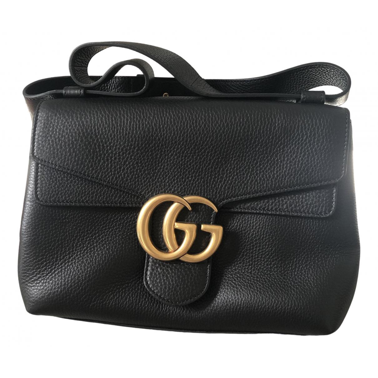 Gucci Arli Handtasche in  Schwarz Leder