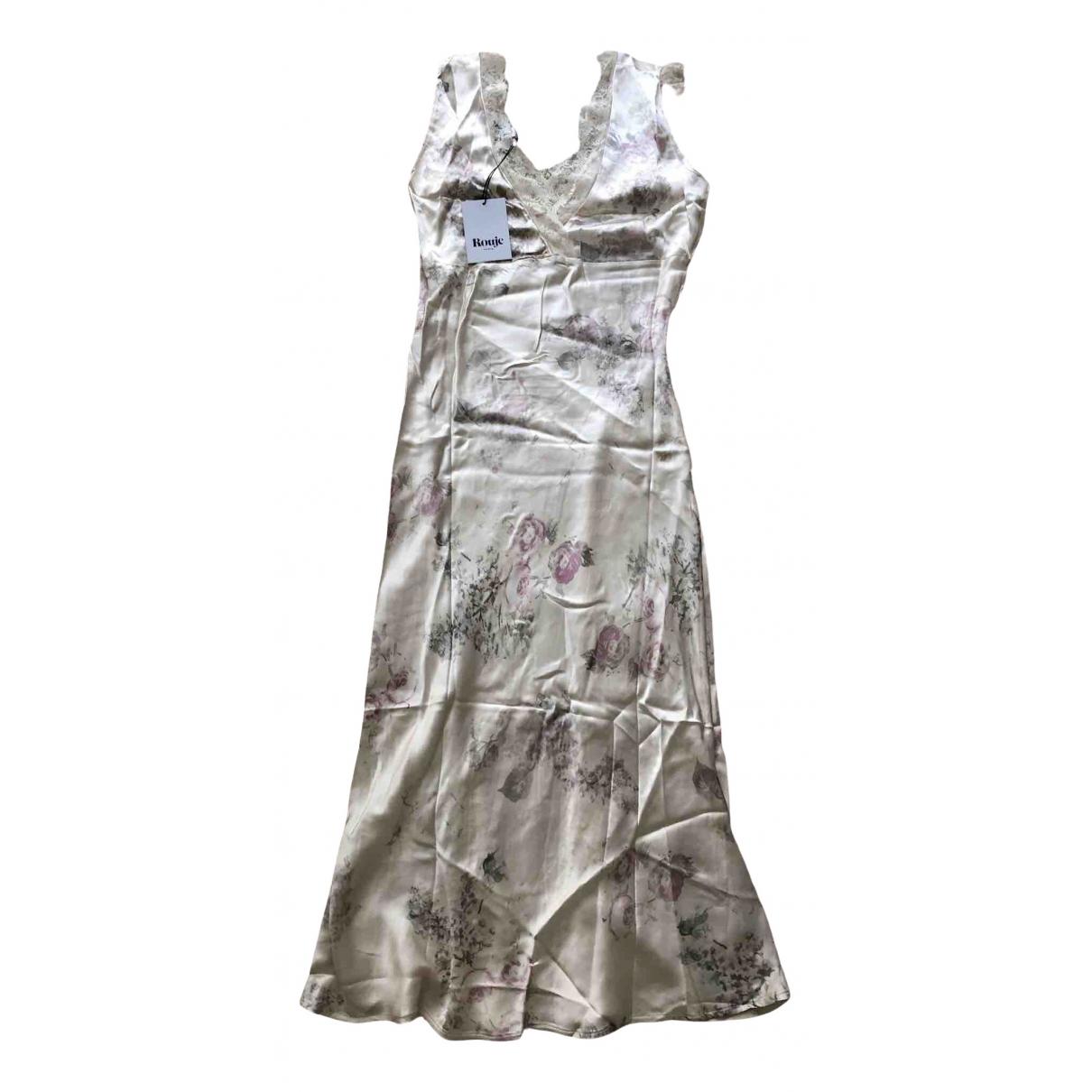 Rouje Spring Summer 2020 Kleid in  Ecru Viskose