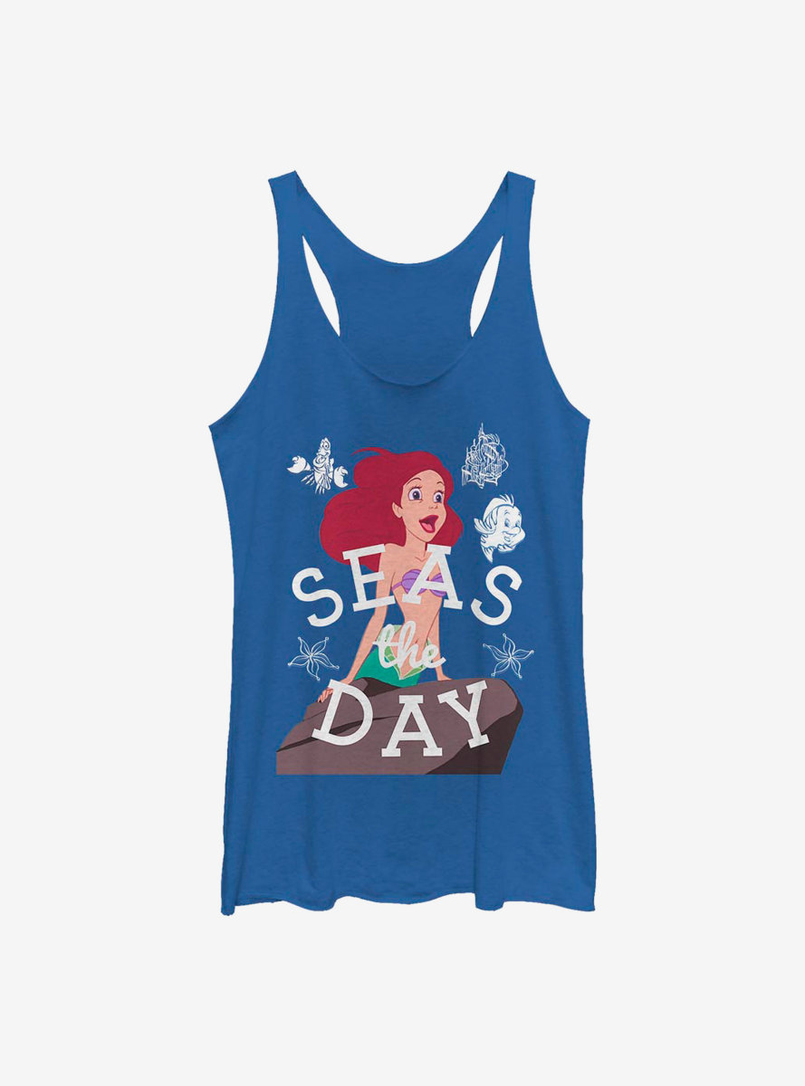 Disney The Little Mermaid Seas The Day Simple Womens Tank Top