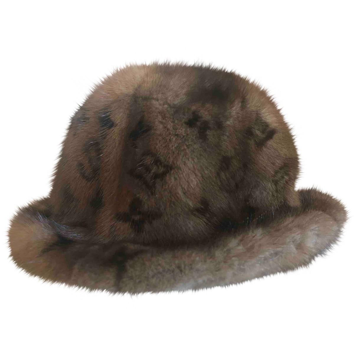 Louis Vuitton \N Brown Mink hat for Women L International
