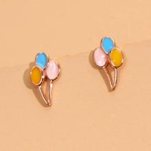 Color Block Balloon Design Stud Earrings