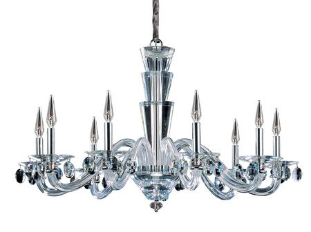 Fanshawe 11529-010-FR001 9-Light Chandelier in Chrome Finish with Firenze Clear