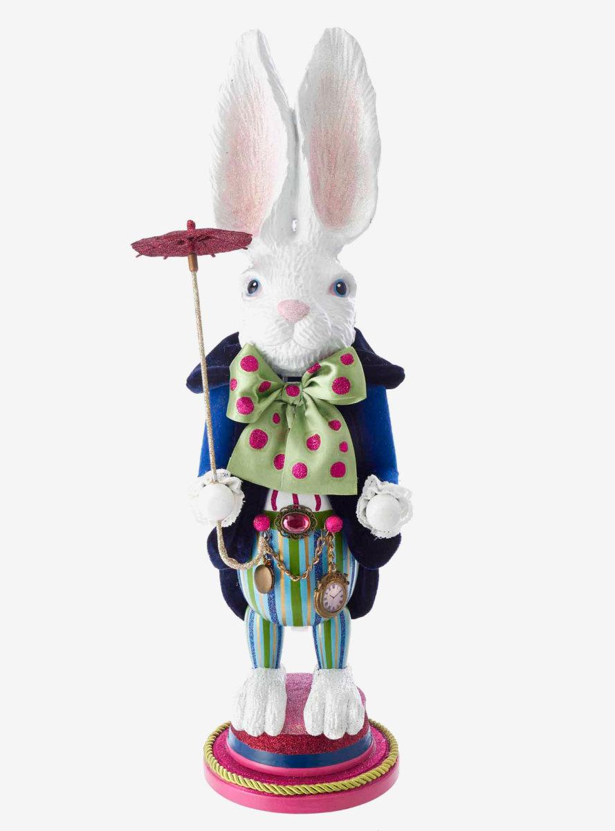 Disney Alice In Wonderland White Rabbit Nutcracker