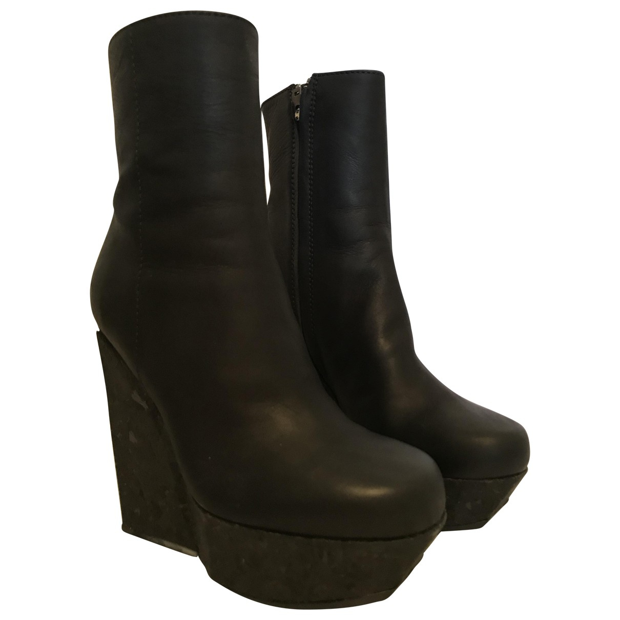 Acne Studios N Black Leather Boots for Women 37 EU