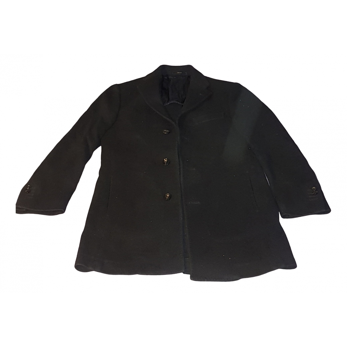 Massimo Dutti - Manteau   pour homme en coton - noir