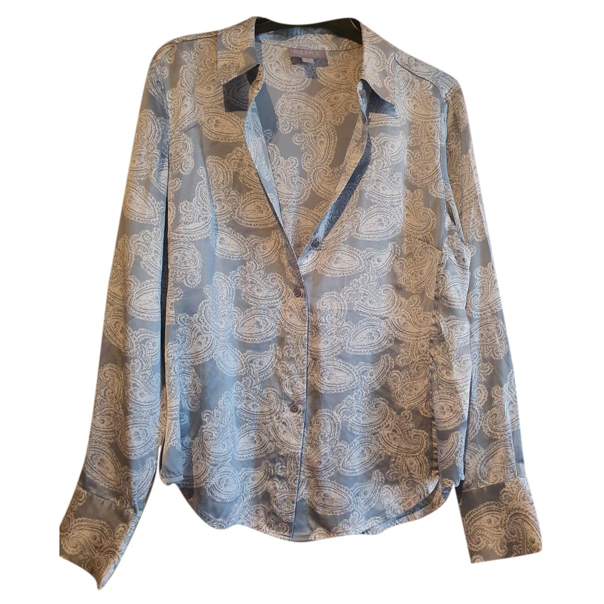 Pure Collection - Top   pour femme en soie - multicolore