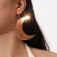 Simple Moon Drop Earrings