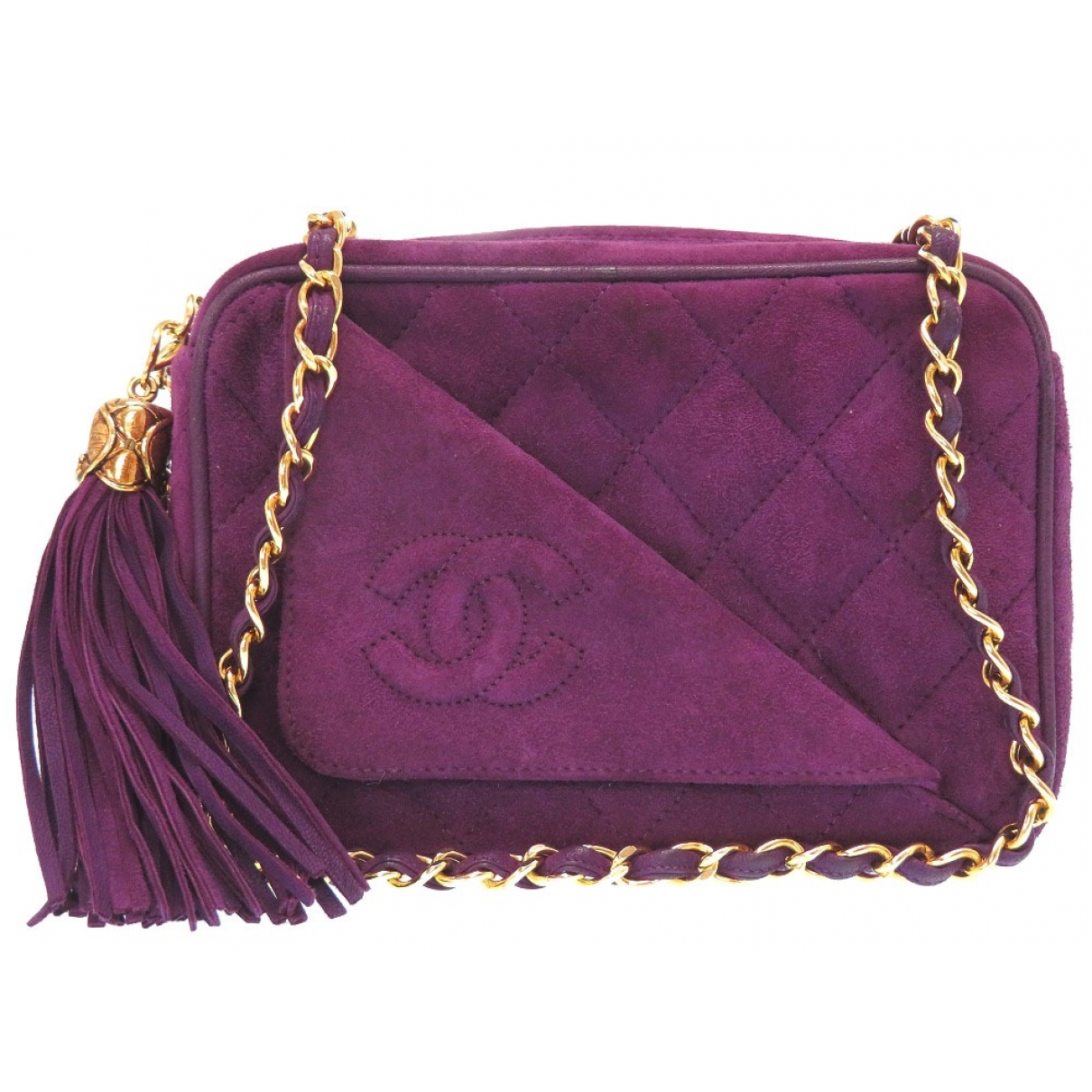 Chanel \N Purple Suede handbag for Women \N