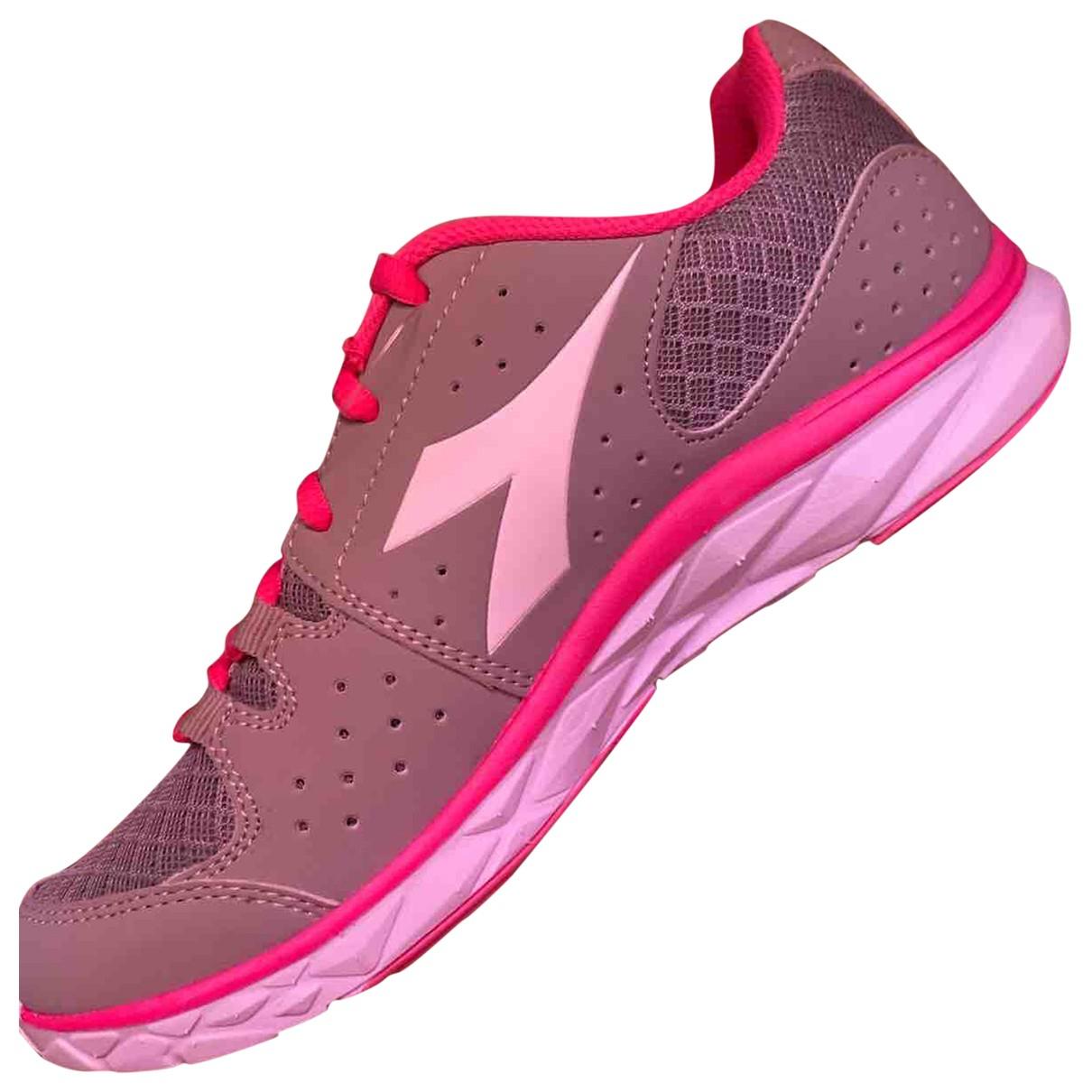 Diadora - Baskets   pour femme en toile - rose