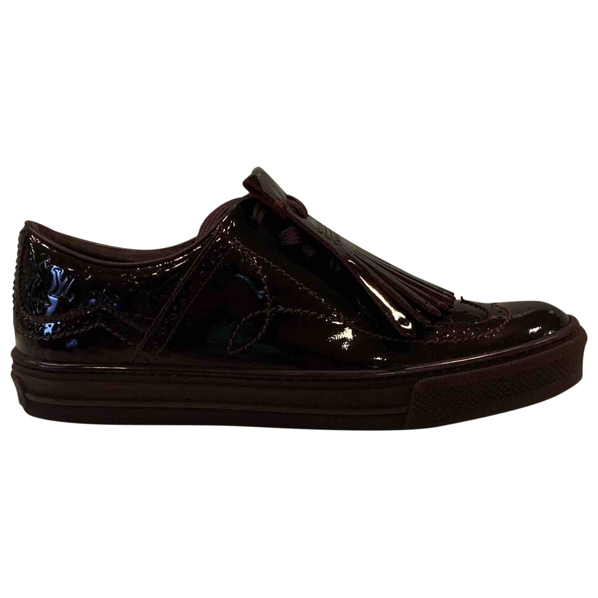 Louis Vuitton \N Burgundy Patent leather Trainers for Women 38 EU