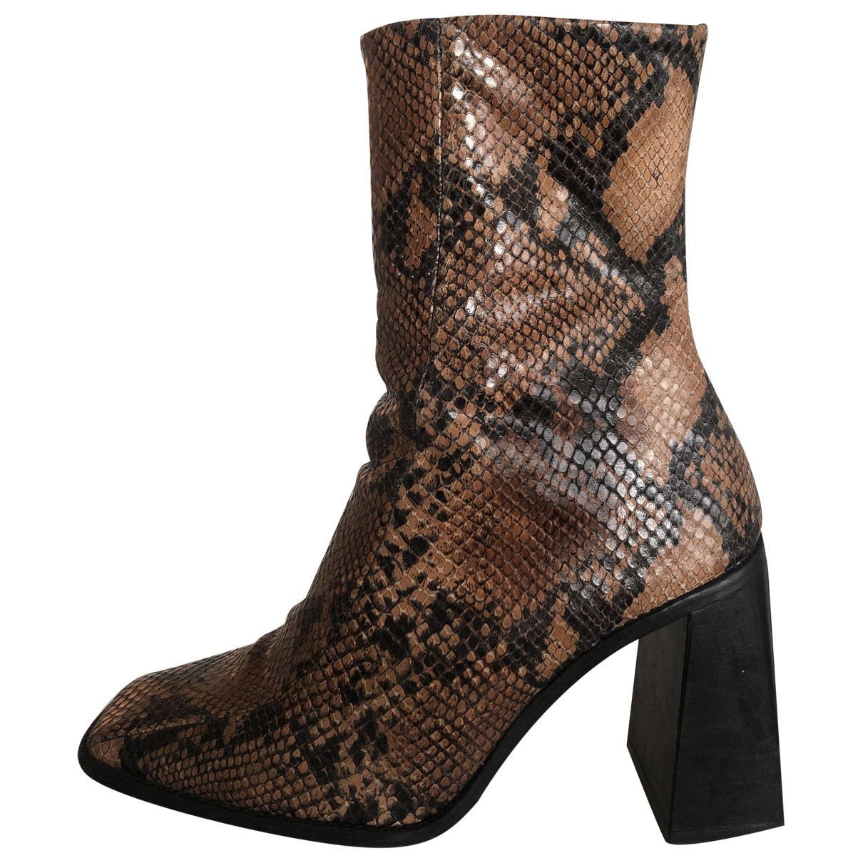 tophop N Brown Water snake Ankle boots for Women 38 EU