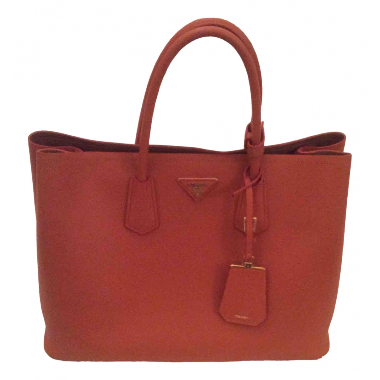 Prada \N Handtasche in  Orange Leder