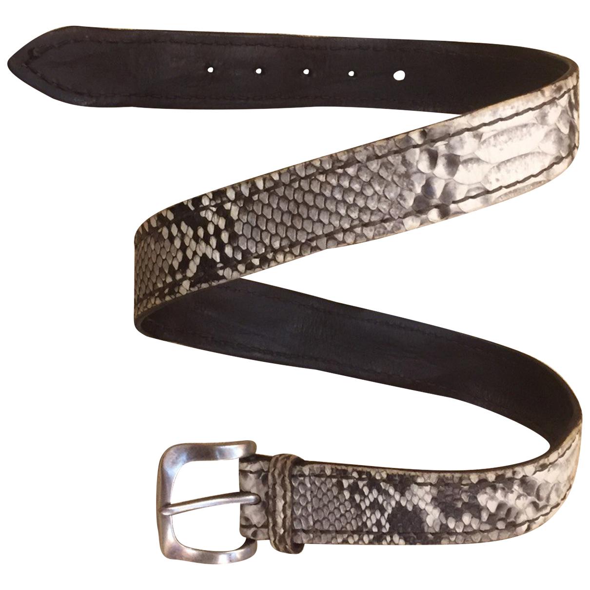Orciani N White Python belt for Men 90 cm