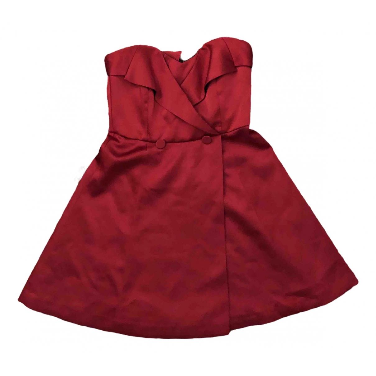Zara \N Kleid in  Rot Seide