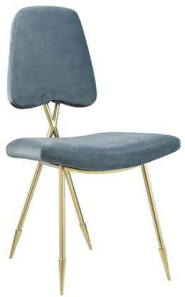 Ponder Collection EEI-2811-SEA Dining Side Chair with Dense Foam Padding  Toothpick Legs  Gold Stainless Steel Frame and Stain-Resistant Velvet