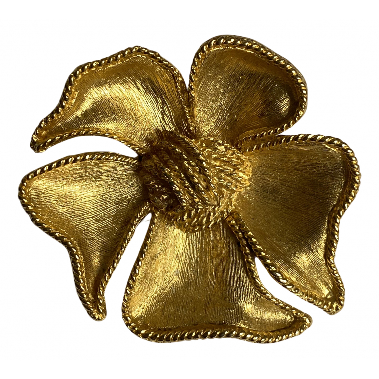 Broche Motifs Floraux en Chapado en oro Dorado Non Signe / Unsigned
