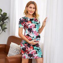 Maternity Tie Dye Dress