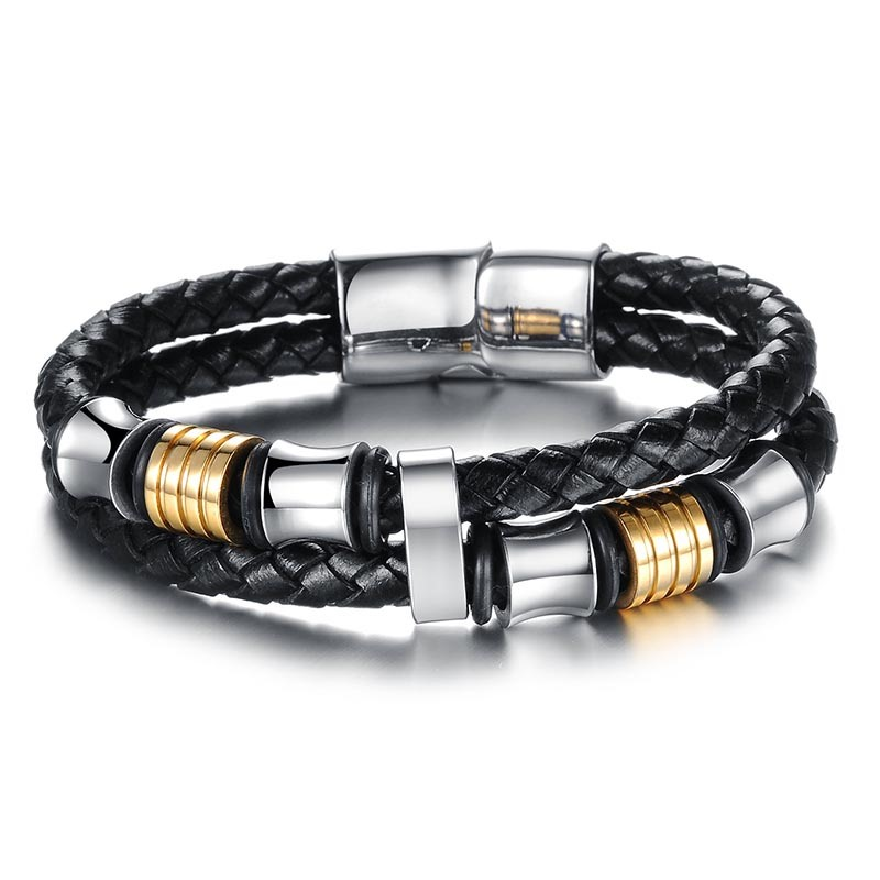 Ericdress Leather Weave Men's Bracelet
