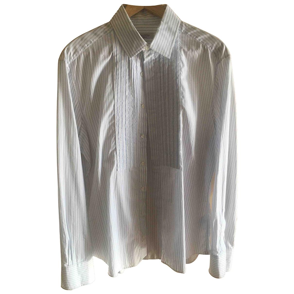 Valentino Garavani \N White Cotton Shirts for Men 17 UK - US (tour de cou / collar)