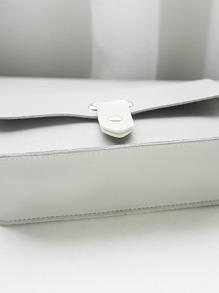 Solid Flap Chain Crossbody Bag