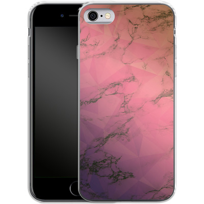 Apple iPhone 6s Silikon Handyhuelle - Marbled Triangles von Joel Perroden