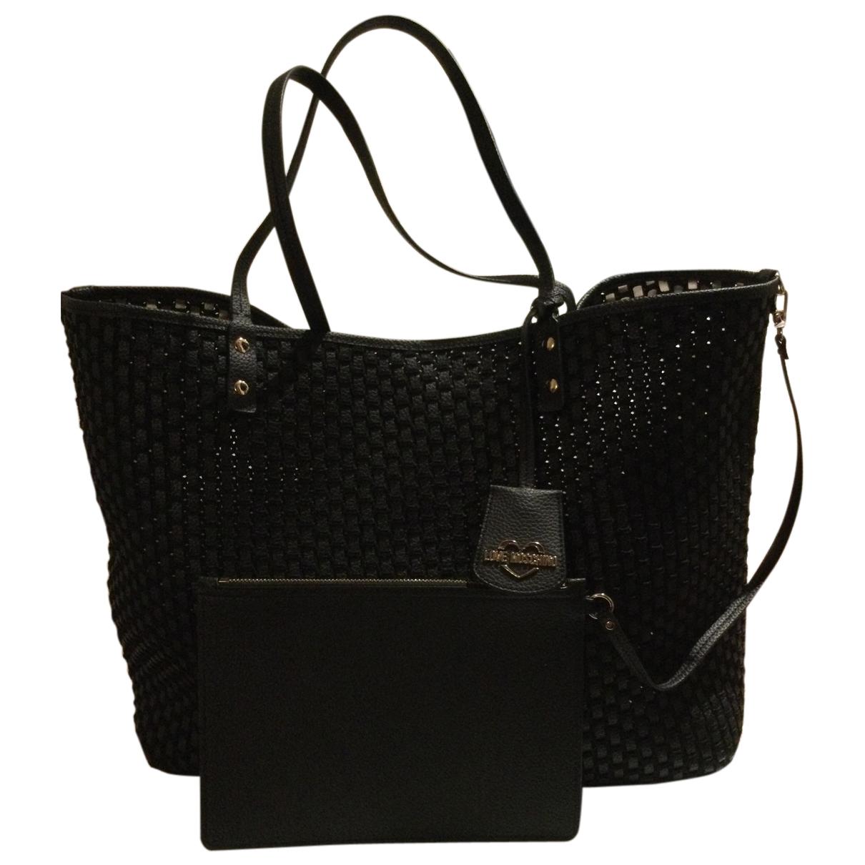 Moschino Love \N Handtasche in  Schwarz Synthetik
